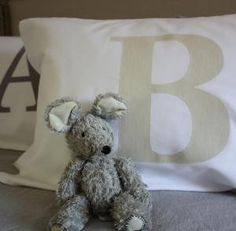 monogram pillowslips Monogram, Teddy Bear, Toys, Handmade, Animals, Monogram Tote, Animales, Hand Made, Animaux