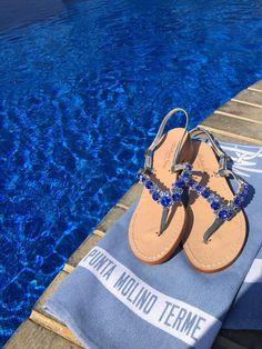 I love blu !!!  #ischia #sandals #handmade