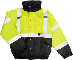 ML Kishigo Hi-Vis Safety Jacket. JS130, Size: 4XL, Black