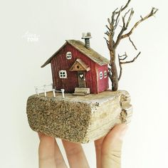 Rock Crafts, Clay Crafts, Diy And Crafts, Crafts For Kids, Driftwood Sculpture, Pottery Sculpture, Wood Block Crafts, Wood Projects, Wooden Art