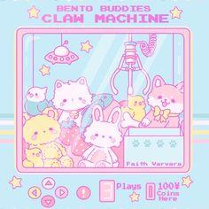 Cute Kawaii Animals, Cute Animal Drawings Kawaii, Cute Drawings, Stickers Kawaii, Cute Stickers, Kawaii Doodles, Kawaii Art, Claw Machine, Kawaii Illustration