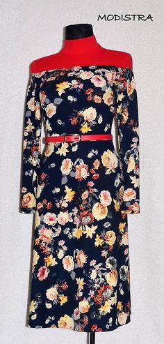 Angeli / Úpletové kvetinové šaty Angles, High Neck Dress, Dresses With Sleeves, Long Sleeve, How To Make, Fashion, Turtleneck Dress, Moda, Sleeve Dresses