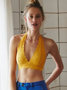 Galloon Lace Halter Bra from Free People!