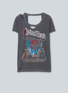 This Chaser Judas Priest T-Shirt is the perfect distressed band tee for day or night festivals. Now available at Aritzia.com.