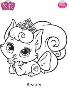 beauty mascota disney dibujo colorear
