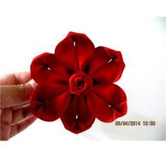 Flores kanzashi six petals flower kanzashi en cintas para el cabello