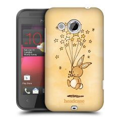 HEAD CASE FLYING STARCATCHER BUNNY PROTECTIVE BACK CASE COVER FOR HTC DESIRE 200