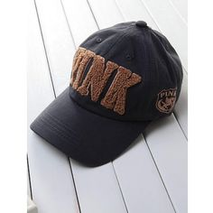 Pink PINK 3D Stereoscopic Embroidery Cotton Blend Hats 211138p ($7.66) via Polyvore