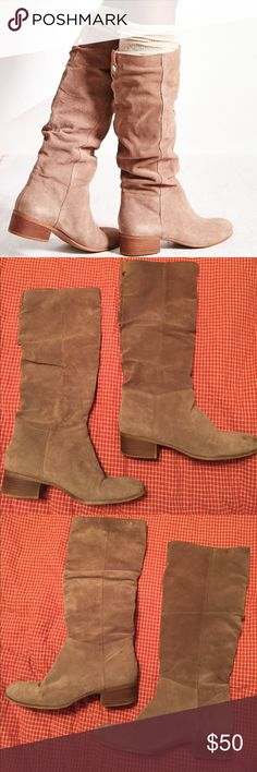 Steve Madden Pondrosa Boot Taupe 1 DAY SALE Great boots. REAL suede on the outside. Steve Madden Shoes Winter & Rain Boots