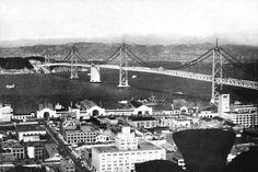 Oakland Bay Bridge, San Francisco, Ca #2 by Vintage San Francisco
