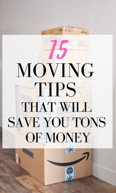 Try these thrifty packing and moving tips to save money! These are the best moving tips and tricks to keep your stuff and bottom line protected. You don't want to miss these expert moving tips! Moving House Tips, Moving Home, Moving Day, Moving Tips, Moving Hacks, Moving Across Country Tips, Budget Moving, Moving Costs, Tips And Tricks