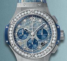 HUBLOT incorpora el #denim en este grandioso #reloj.