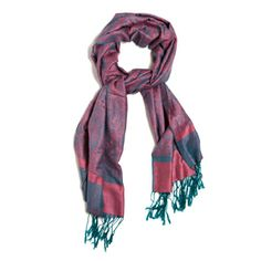 ($30.00) RAINA SCARF. Tie the Raina Scarf around your neck during the day in place of a necklace, then wrap it over your shoulders at night when you want to add color and a little warmth over a sleeveless dress. The color combination of this scarf can't be beat!!