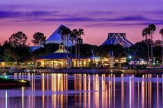 """Disney World """"After a great sunset in Magic Kingdom the day before I was hoping for similar results my next day in Epcot. I decided to start shooting from in front of…"""""""