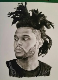 Love this portrait of The Weeknd. By: @ceci22