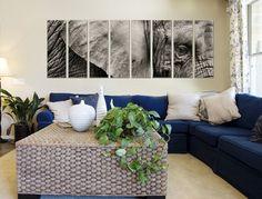 Framed Elephant Close up Canvas Print - Vibrant Canvas Prints #Wildlife #Canvas #Art vibrantcanvasprints.com