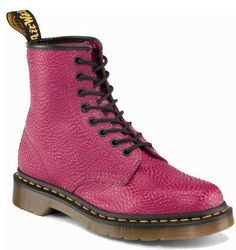 Dr. Martens Beet Red Pearl Boots  -  wildfree.com