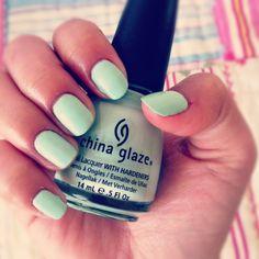 China Glaze mint nail polish