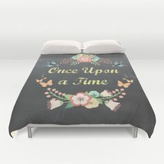 Bookish blankets - Any whimsical book nerd would love to snuggle up in this Once Upon a Time duvet cover.