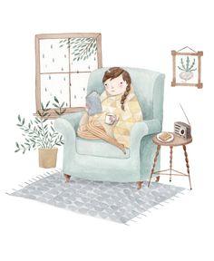 Cozy Armchair Read | Julianna Swaney