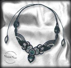 Makramee-Halskette futuristische Halskette Halskette von NucaNuc