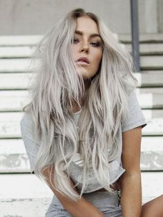 Celebrity Beauty Trends - Gray hair trend: #GrannyHair -- Women of all ages (including three Allure editors) color their hair gray after Zosia Mamet, Rihanna, and Amandla Stenberg. | http://allure.com