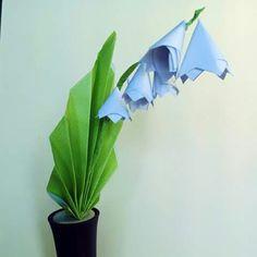 tuto origami muguet
