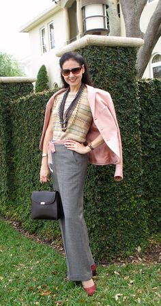A Complete Ralph Lauren Look Inspired by His Latets Collection! Wool-Silk Hacking Jacket, Linen-Cotton Fair Isle Sweater, Wool Prince of Wales Pants, Pink Sunglasses, and Mark Cross Original Bag and Cole-Haan Suede-Snakeskin Shoes, Ferrari-Longines Watch