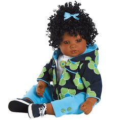 """Oops a Daisy"" Adora - beautiful African American life size baby doll for play or collecting. Available for only $99 at http://www.kinderlanddolls.net/Oops_A_Daisy_Adora.html"