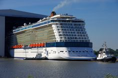 Celebrity Reflection - Floating out - August 12th 2012 - reflection088 - Cruise Ships from Papenburg / Germany#top_display_media