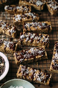 coconut mocha vegan protein bars - The First Mess