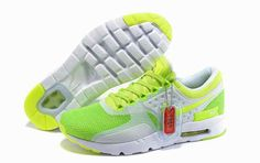 sports shoes 912cd 8d8ea 2015 Latest Nike Air Max Zero QS 87 Retro Womens Running Shoes Grass Green  White…