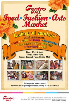 Interested vendors, please email yvvoneyee@centro.com.my :)