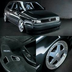 Volkswagen Golf Mk3 GTI with Jetta swap, IZ Futura and Recaro seats