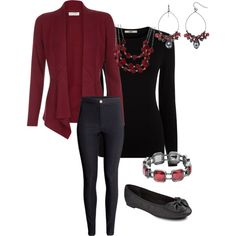 Burgandy by hmeade57 on Polyvore featuring polyvore, fashion, style, Monsoon, Oasis, H&M, Sam & Libby, Sonoma life + style and Croft & Barrow