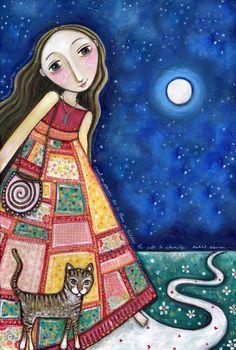 """~ Trust in dreams, for in them is hidden the gate to eternity. ~ / Khalil Gibran / 😊 Art :""""Dreamwalker"""" by Lindy Longhurst. ❤"""