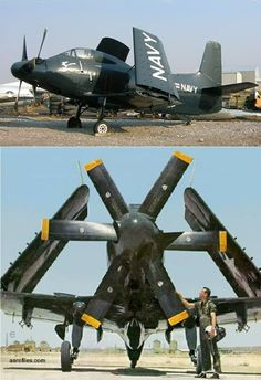 Douglas Skyshark a turboprop-powered attack aircraft built by the Douglas Aircraft Company for the United States Navy. Navy Aircraft, Ww2 Aircraft, Fighter Aircraft, Fighter Jets, Military Jets, Military Aircraft, Aircraft Images, Douglas Aircraft, War Thunder