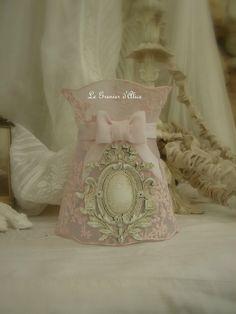 Du rose pour l'abat jour en voile de mariée Shabby chic lampshade