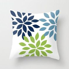 Throw Pillow Covers Navy Blue Green White Stone Couch Cushion Cover Contemporary Home Decor Living Room Pillow Decorative Pillow - Kissen Couch Cushion Covers, Diy Pillow Covers, Couch Cushions, Decorative Pillow Covers, Cushion Pillow, Cushion Cover Designs, Pillow Cover Design, Fabric Paint Designs, Living Room Pillows