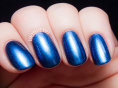 Miss Piggy's Big Number is a rich blue metallic with the slightest hint of duochrome