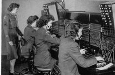 WACs of WWII work the switchboard.