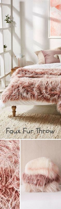 This blanket would be a perfect addition to a sofa or bed to keep cozy during the winter | Marisa Tipped Faux Fur Throw Blanket | Cozy Blanket | Winter Decor | Faux Fur | Purple | Throw Blanket | Warm | Sponsored #homedecor #blankets