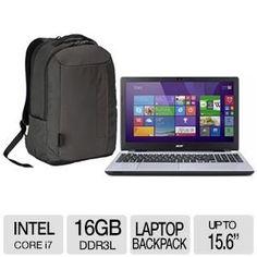 Acer Aspire V3-572G-7609 Backpack bundle