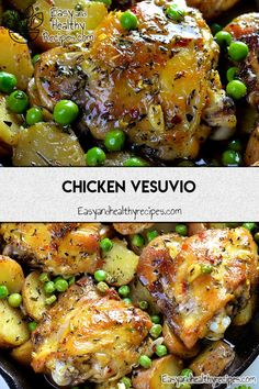 Chicken Thighs: Best Recipes To Try - Chicken thighs are the main and preferred chicken part that are made into a wide range of dishes, along with breasts and wings. Slow Cooker Chicken Thighs, Roasted Chicken Thighs, Oven Roasted Chicken, Paleo Chicken Thighs, Chicken Feed, Keto Chicken, Chicken Vesuvio, Cooking Recipes, Healthy Recipes