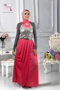 red maxi skirt Spring floral maxi skirts with hijab http://www.justtrendygirls.com/spring-floral-maxi-skirts-with-hijab/