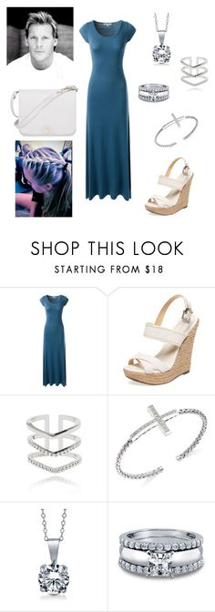 """""""Chris Jericho: you wear a maxi dress"""" by dpclma ❤ liked on Polyvore featuring Schutz, Astrid & Miyu, BERRICLE and Furla"""