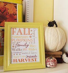 ♥ Fall Printable