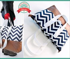 Gilded Chevron Tote: Deck The Halls with Fabric.com What a great way to apply a zipper to a bag! Why didn't I think of that??