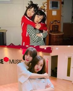 GFriend′s Eunha and SinB Share Childhood Photo Gfriend Lol, South Korean Girls, Korean Girl Groups, Gfriend Album, Gfriend Sowon, Childhood Photos, Entertainment, Child Actors, G Friend