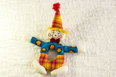 INSTANT DOWNLOAD PATTERN Clown Doll Baby Rattle by heaventoseven